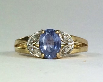 Lovely Tanzanite Gold Ring