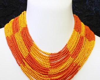 Handmade Zulu Beaded Collar Necklace