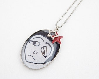 BAD MOOD - Necklace in antique silver