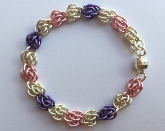 Sweetpea Chainmaille Bracelet