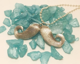 Large Mustache Pendant necklace