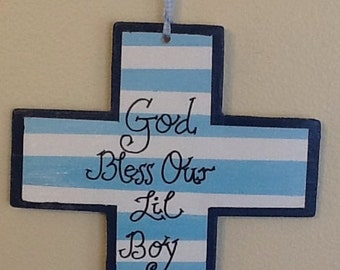 nursery cross sign, nursery cross, baby boy cross sign, newborn sign, newborn cross sign, newborn room decor, baby boy room ,Baby boy cross