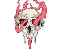 Skull tattoo sticker by Filip Gres