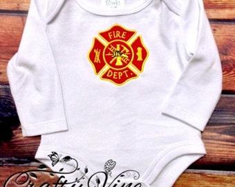 Kids/infant Fire department shirt