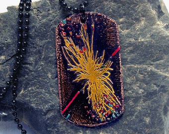 Etched copper Higgs Boson Dogtag Pendant