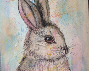 Watercolor Rabbit