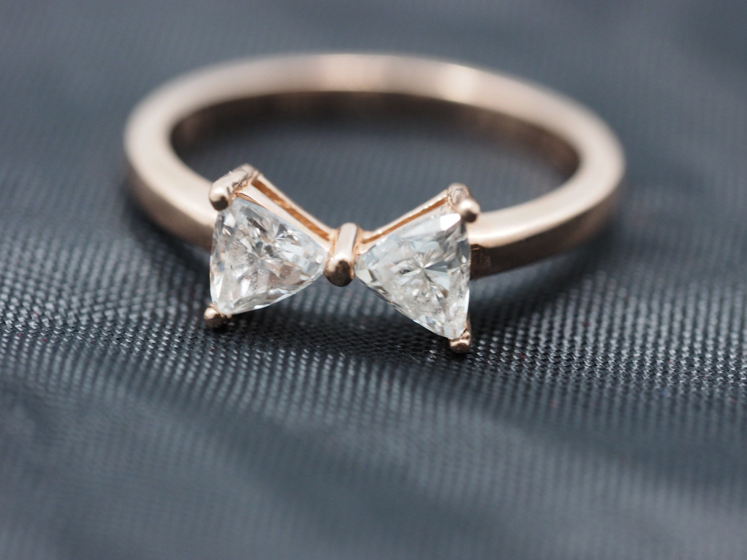 14k gold bow tie ring gold bow tie ring