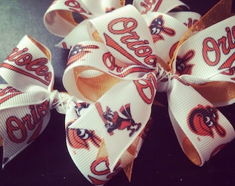 Play Ball! Orioles Hair Bow
