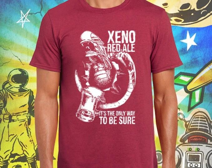 Alien Chestburster Xeno Red Ale Men's Crew Neck Vintage Red 100% Ring Spun Cotton T-Shirt