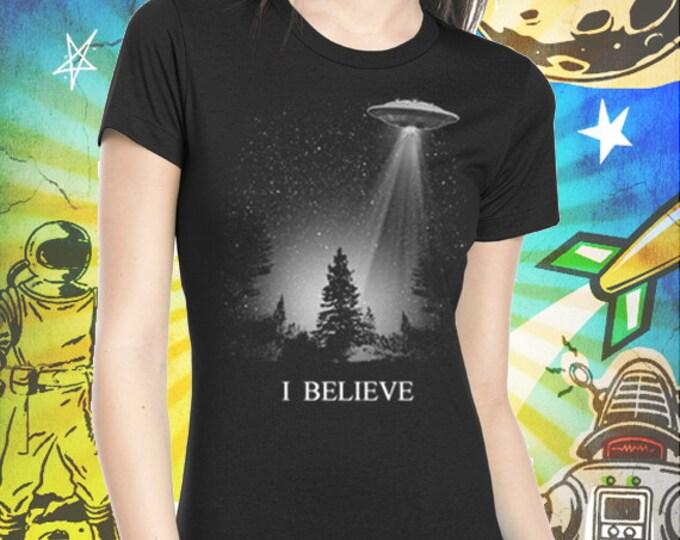 I Believe UFO Women's T-Shirt XFiles Tshirt