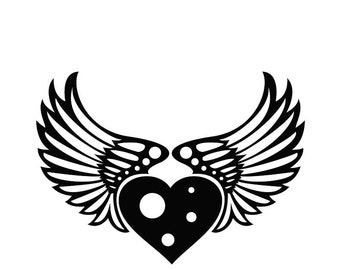 Heart with Wings - Car/Truck/Home/Laptop/Computer Decal