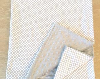 New Polka Dot Minky Baby Blanket
