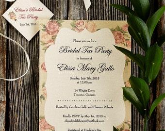Garden Rose - Custom Bridal Shower Invitation
