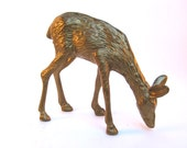 1950's Brass Deer Figurine