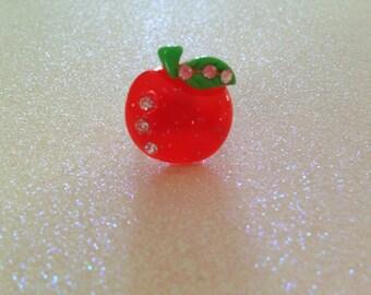 Glitter Apple Ring