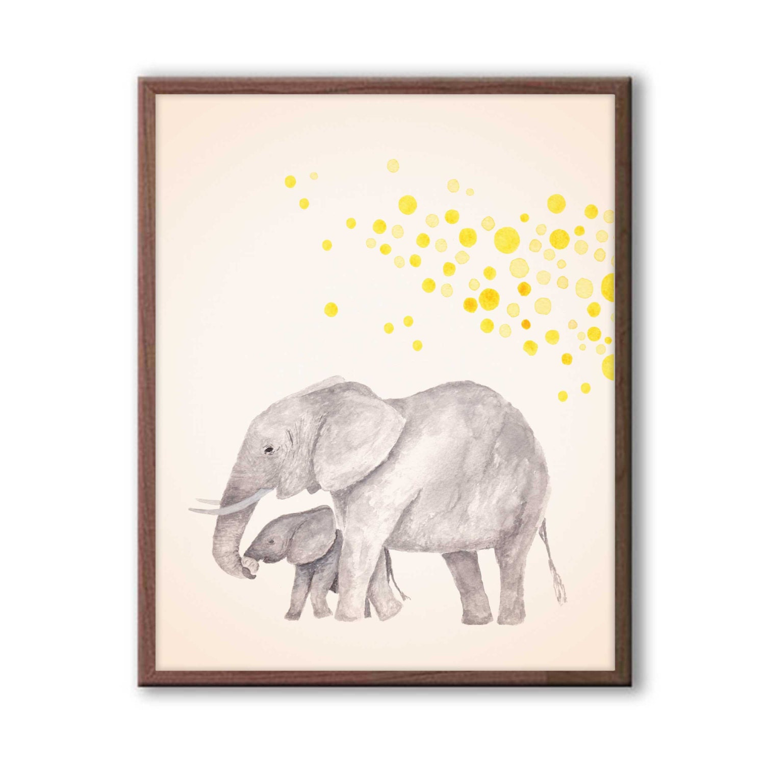 Baby nursery decor elephant nursery art kids wall art for Nursery wall art