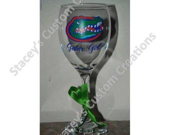 Gator Girl Wine Glass (Florida Gators)