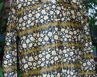 African print Long Sleeve Shirt