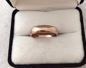 Reserved for Paula Vintage 9ct  9k 375 Fine Rose Gold Ring Band Russian Soviet USSR