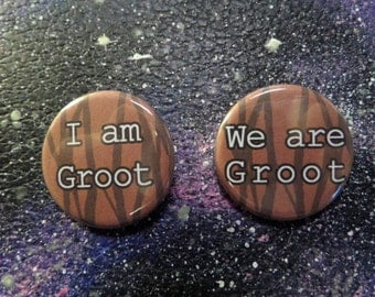 Guardians of the Galaxy - I am Groot and We are Groot -Buttons