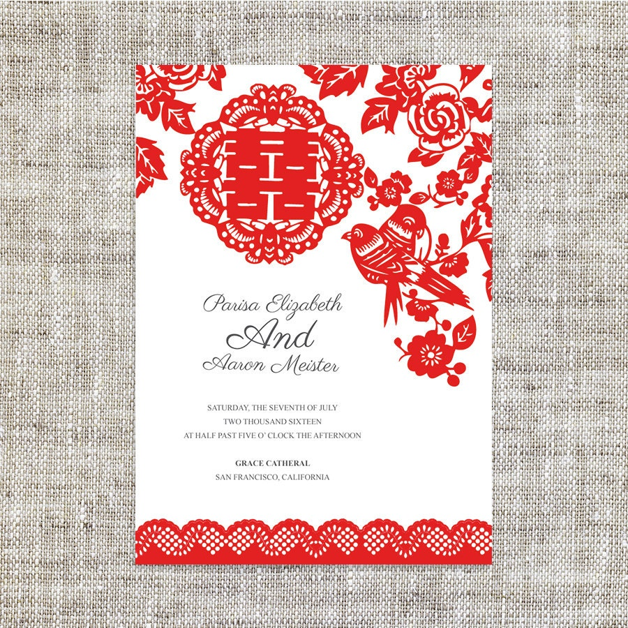 DIY Printable Wedding Invitation Card Template Instant
