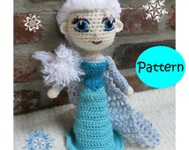 PATTERN - Snow Queen Elsa Frozen - Amigurumi - Crocheted ...
