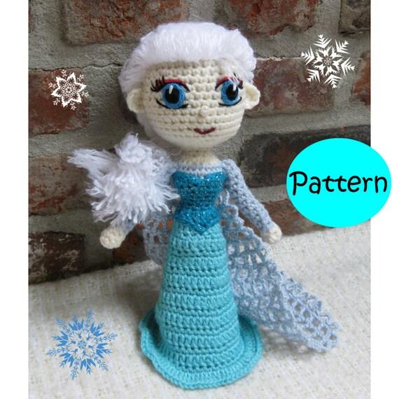 Amigurumi Crochet Frozen : PATTERN Snow Queen Elsa Frozen Amigurumi by amigurumi4ever