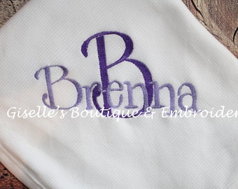 Personalized Baby Thermal Blanket
