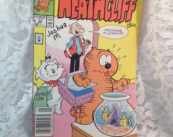 Vintage Marvel Comic, Heathcliff Cartoon/Comic Book, 1989, The Other Bond, Secret Agent of course, 33, May, 1989.