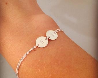 Personalised bracelet, sterling silver bracelet,  bracelet, silver initial bracelet