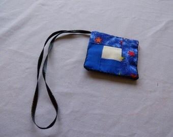 Quilt Block Scissor fob and keeper