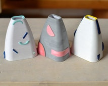 MIMAW 3d printed vessel - Mint Pastel - Desk Accessories - Hand-painted - Paint Brush Holder - Free Shipping