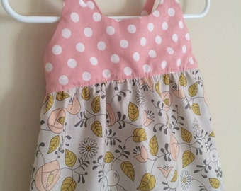 Pink Polka Dot Dress , Pink Baby Dress , Pink Baby Clothing , Pink Toddler Dress , Baby Girl Dress