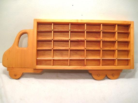 Hot Wheels Toy Car Holder Truck : Hot wheels boys wood truck display case toy wall