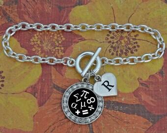 Custom Initial Math Bracelet