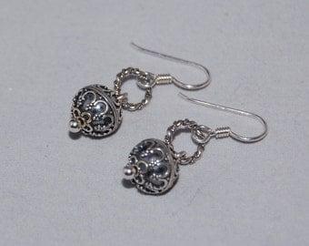 Bali Bead Earrings in Sterling Silver