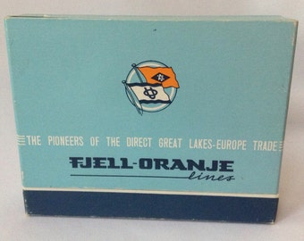 Fjell Orange Lines Card Decks