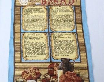 "Large Irish Bread Tea Towel Souvenir Panel Fabric 28.5"" x 19"""