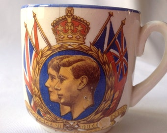 King George VI and Queen Elizabeth Royal Visit to Canada May 1939 Commemorative Cup