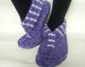 Knitted Slippers Women Warm Gift Cozy socks made in Lithuania