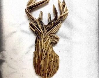 Deer Head Home Decor- Driftwood Shadow