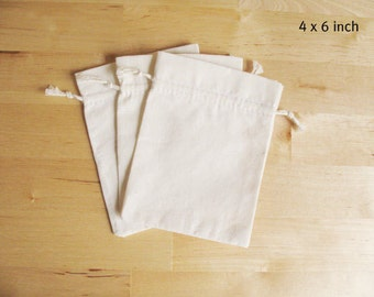 DRAWSTRING Bags 60 MUSLIN bags Natural 3x5 Cotton bags, Wedding ...