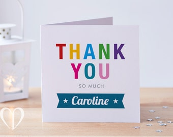 Thank You Card, Personalised Thank You Card, Custom Thank You Card, Thankyou Card, Thanks Card, Thanks So Much Card, Thank You So Much Card