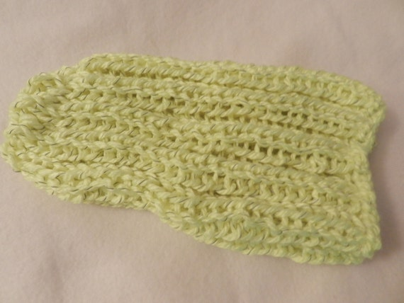 Made to Order Reflective yarn hand knitted bulky warm slouch
