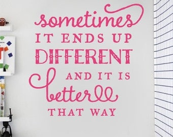 childrens wall stickers - Sometimes it ends up different and it is better that way