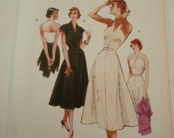 Marilyn Monroe dress/40s/Vintage style/Halter /jacket/summer dress 2008 sewing pattern, Bust 31 32 34 36, Sizes 8 10 12 14, Butterick B 5214