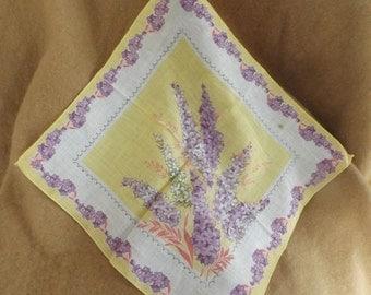 Vintage Lilac Handkerchief