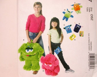 McCall's Crafts 6337 - Child's Furry Monster Backpack, Cases, Toys 2011 Sewing Pattern