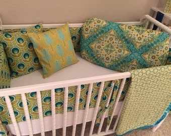 Nursery Bedding Crib Bedding Baby Bedding Set 4 piece Choose your fabrics