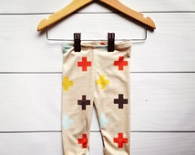 Modern baby cross leggings,   new sizes available for 0-24 months!